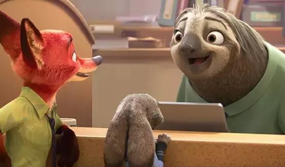 动画电影《疯狂动物城》拿行动缓慢的树懒来嘲讽规管